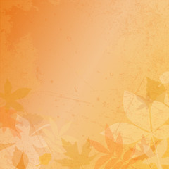 Retro Autumn Paper Background