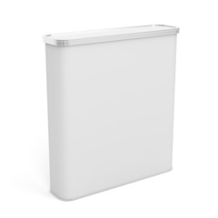 White plastic rounded box