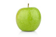 Studio shot of whole green apple isolated on a white background