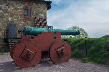 Kanone auf Festung