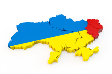 Ukraine map Donetsk and Luhansk