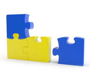 yellow and blue puzzles