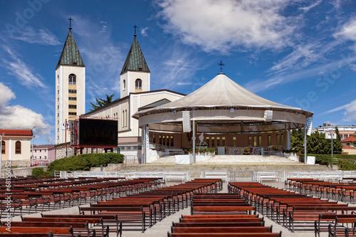 Saint James church of Medjugorje in Bosnia and Herzegovina. - 68155052