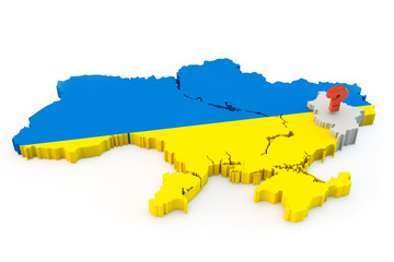 Ukraine map Donetsk