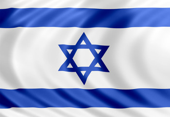 Israeli flag of silk