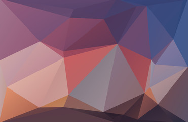 Abstract polygonal background red blue brown