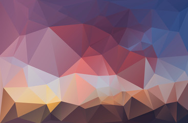 Abstract polygonal background brown red blue
