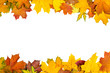 Autumn leaves frame - 68156668