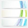 Obrazy na płótnie, fototapety, zdjęcia, fotoobrazy drukowane : Bright abstract cards headers footers set