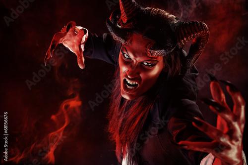 canvas print picture devil portrait
