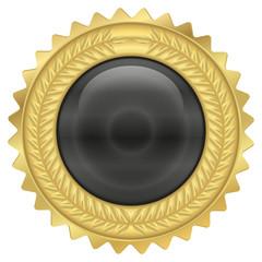 Goldmedaille - schwarz