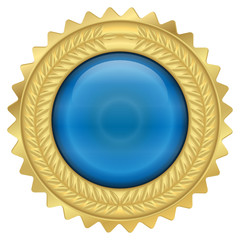 Goldmedaille - blau