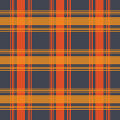 dark grey with orange color urban plaid pattern