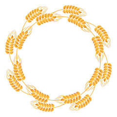 Wreath of wheat ears