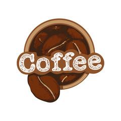 Coffe beans logo