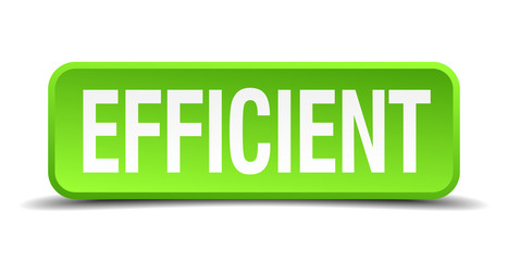 Efficient green 3d realistic square isolated button