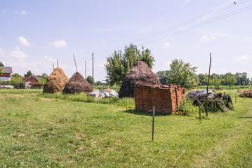 Haystack on farm