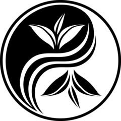 Black decorative Yin Yang