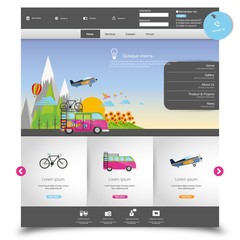 Vector website template for Tourism