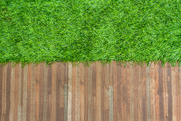 Grass and ceramic tile background