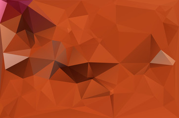 Abstract polygonal background orange red