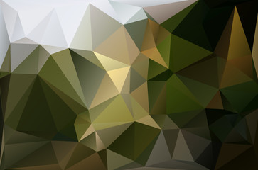 Abstract polygonal background dark green