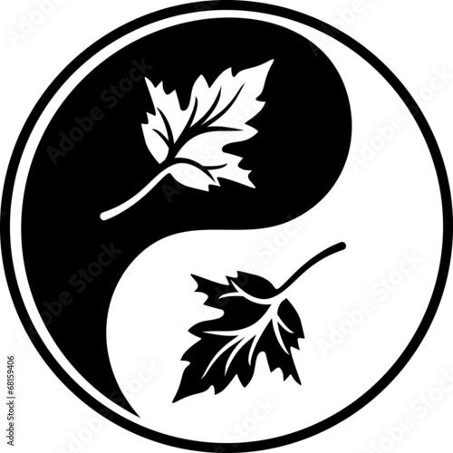 Black leafy symbol