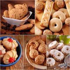 collage di biscotti assortiti