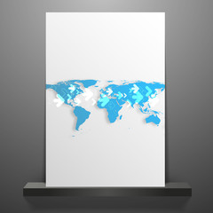 Clean futuristic vector design template with earth globe.