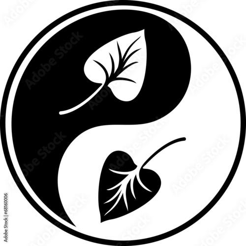 Leafy black Yin Yang