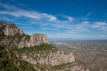 Panorama der Montserrat Gebierge