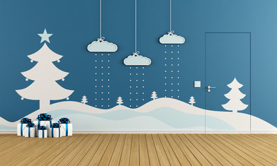 Playroom with christmas decoration