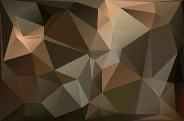 Abstract polygonal polygon style background dark brown