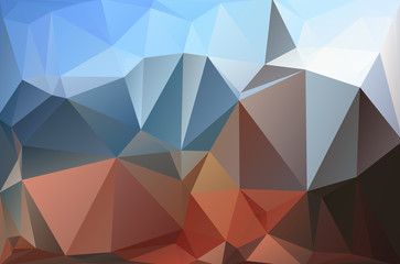 Abstract polygonal polygone polygon background white brown blue