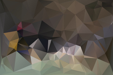 Abstract polygonal brown