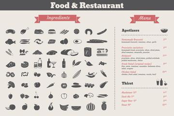 food ingredients & restaurant food menu