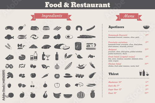 food ingredients & restaurant food menu