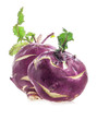 Two Cabbage kohlrabi isolated on white background