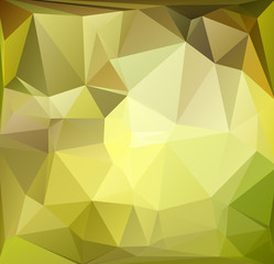 Abstract polygonal background yellow