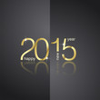 Gold 2015 front back black background vector