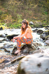 Sitting in a river