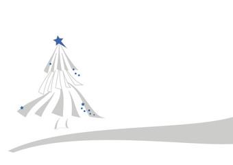 weihnachtsbaum in blau