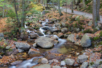 franconia notch state park, new hampshire, usa