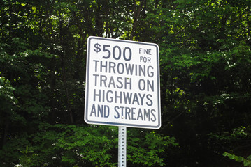 Sign For Illegal Trash Disposale