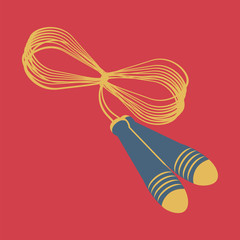 Rope, vector, flat icon (from set Back to school)