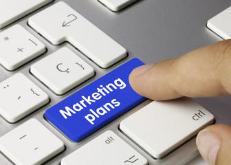 Marketing plans. Keyboard