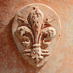 Coat of Arms of Florence in tuscan  terracotta