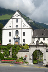 The convent of Engelberg on Switzerland