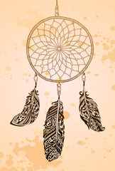 Vintage background with dream catcher