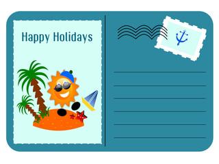 Cartolina di buone vacanze